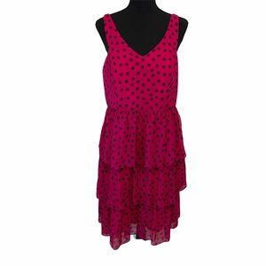 Torrid Fuschia Polka Dot Party Dress Size 12